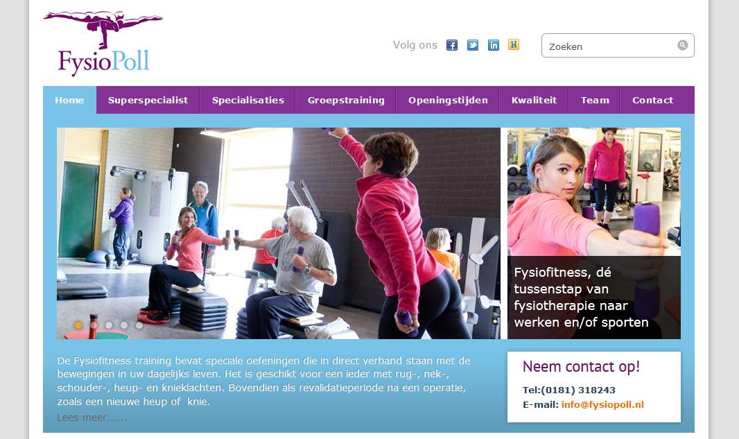 FysioPoll website