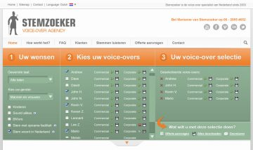 Stemzoeker - Voice-over Agency
